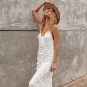 | nwt • down in mexico crochet maxi dress |